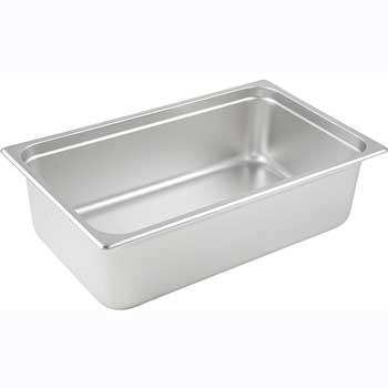 "Winco® Anti-Jam Steam Pan, Full size, 6"", 25 Gauge Stainless Steel"