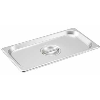 Winco® S/S Steam Pan Cover, 1/3 Size, Solid