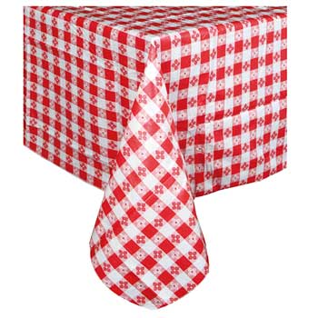 "Table Cloth, 52"" x 52"", Square, Red"