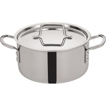 Winco® Tri-Gen™ Tri-Ply Stainless Steel Stock Pot, 4 1/2 qt.