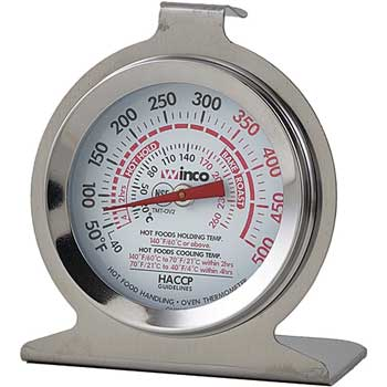 """Winco® Oven Thermometer, 2"""" Dial Face"""