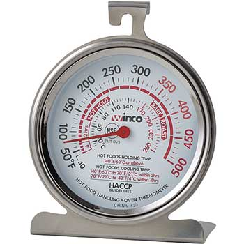 """Winco® Oven Thermometer, 3"""" Dial Face"""