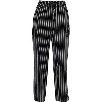 Woven Chalkstripe Chef Pants, Large