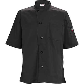 Winco® Tapered Fit Ventilated Shirts, Black XL