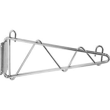 "Winco® Wall Mount Brackets, Chrome Plated, 18"", 2/PR"