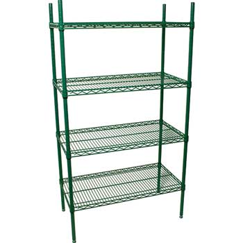 "Shelving Unit, 36""w x 18""d x 72""h, Epoxy Plated"