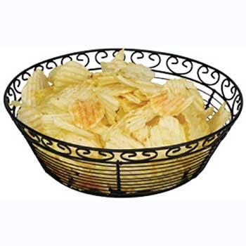 """Winco® Bread/Fruit Basket, Black Wire, 10"""" Round"""