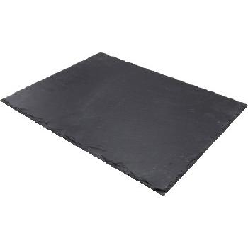 "Winco® Ardesia Tavo™ Slate Rectangular Platter, 15 3/4"" x 11 1/2"", 6/PK"