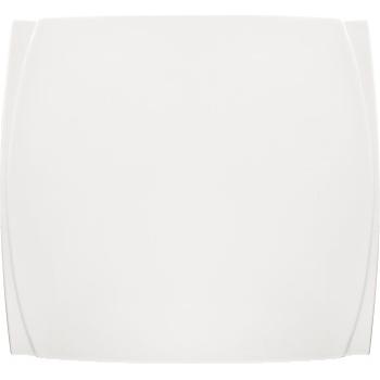 """Winco® Bettini™ Bright White Porcelain Square Plate, 7 1/2"""", 24/CS"""