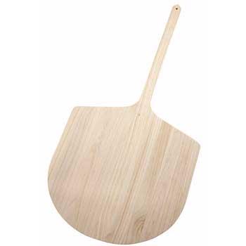 "Winco® 42"" Wood Pizza Peel, 20""x21"" Blade"