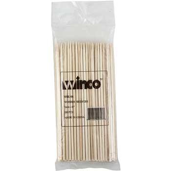 "Winco® 6"" Bamboo Skewers, 100/bag"