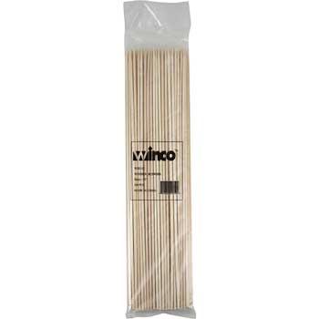 "Winco® 12"" Bamboo Skewers, 100/bag"