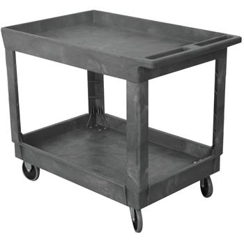 "Wesco® Service Cart, Standard, Plastic, 500 lb. Capacity, 40 1/4"" x 25 1/2"" x 32 1/2"", Gray"