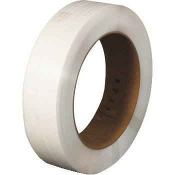 "W.B. Mason Co. Strapping Tape, Polypropylene, 24 Gauge, 1/2"" x 12900', 8"" x 8"" Core, White"