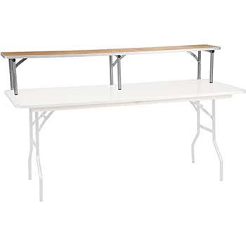 "Flash Furniture Bar Top Riser with Silver Legs, 72"" x 12"" x 12"", Birchwood"
