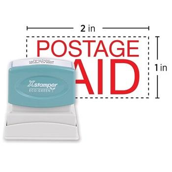 """Xstamper® Custom Message Stamp, Pre-Inked, N12, 2"""" x 1"""""""