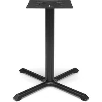 "X-Style Small Base for Model XT Standard Height Multi-Purpose 36"" Tables, Black"