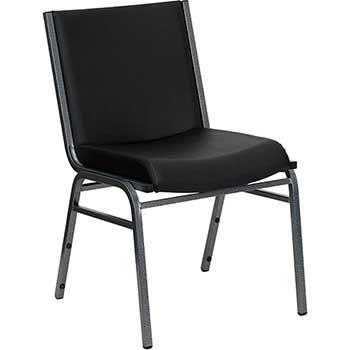 Flash Furniture HERCULES Series Heavy Duty Stack Chair, Vinyl, Black