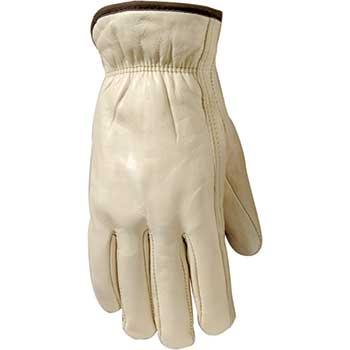 Weldas® Gloves, Grain Cowhide, Leather Driver, Straight Thumb, Medium, 12/PK
