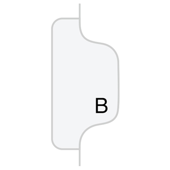 "Legal Tabs 90000 Series Alpha Side Tab Legal Index Divider, Preprinted ""B"", 25/Pack"