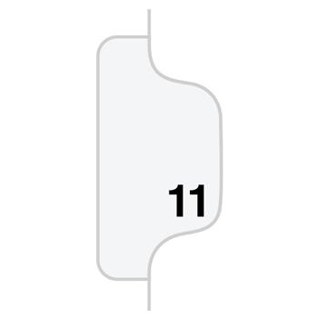 """Legal Tabs 80000 Series Legal Index Dividers, Side Tab, Printed """"11"""", 25/Pack"""