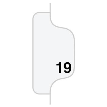 """Legal Tabs 80000 Series Legal Index Dividers, Side Tab, Printed """"19"""", 25/Pack"""