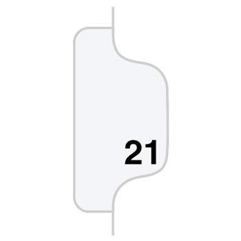 Individual Legal Dividers Style, Letter Size, Avery-Style, Side Tab Dividers, #21, 25/PK