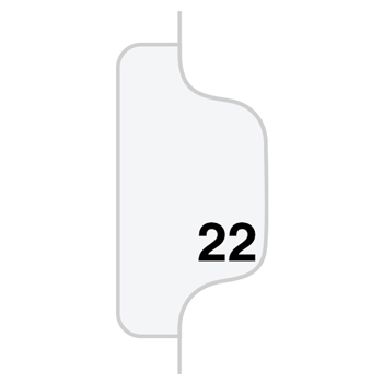 Avery® Individual Legal Dividers Style, Letter Size, Avery-Style, Side Tab Dividers, #22, 25/PK