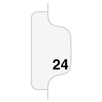 Individual Legal Dividers Style, Letter Size, Avery-Style, Side Tab Dividers, #24, 25/PK