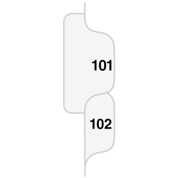 "Legal Tabs 80000 Series Side Tab Legal Index Divider Set,  Printed ""101""-""125"""