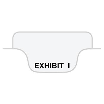 "80000 Series Legal Index Dividers, Bottom Tab, Printed ""Exhibit I"", 25/Pack"