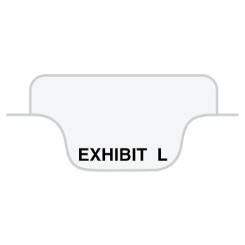 "Legal Tabs 80000 Series Legal Index Dividers, Bottom Tab, Printed ""Exhibit L"", 25/Pack"