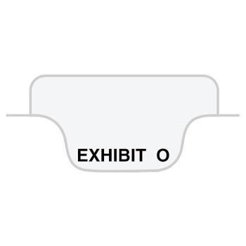 "Legal Tabs 80000 Series Legal Index Dividers, Bottom Tab, Printed ""Exhibit O"", 25/Pack"
