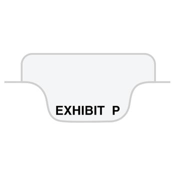 "Legal Tabs 80000 Series Legal Index Dividers, Bottom Tab, Printed ""Exhibit P"", 25/Pack"