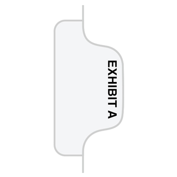 "Legal Tabs 80000 Series Legal Index Dividers, Side Tab, Printed ""Exhibit A"", 25/Pack"