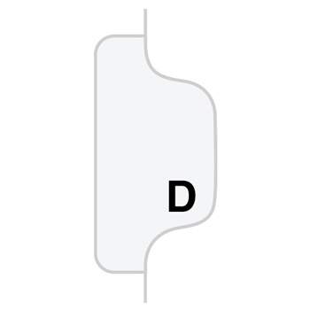 """Legal Tabs 80000 Series Legal Exhibit Index Dividers, Side Tab, """"D"""", White, 25/Pack"""