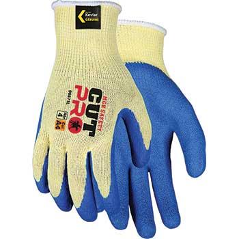 MCR™ Safety Flex Tuff® Kevlar®, Cut Resistant, Blue Palm, Large, 12/PK