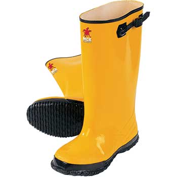 """MCR™ Safety Rubber Slush Boot, 17"""", Over the Shoe, Yellow, Size 11"""