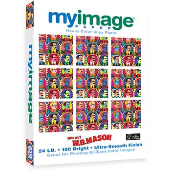 Heavy Color Copy Paper, 100 Bright, 24 lb., 8 1/2 x 11, White, 500/RM
