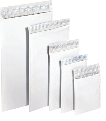 """Polyair XPAK Poly Bubble Mailers, #000, 4"""" x 8"""", White, 500/CS"""