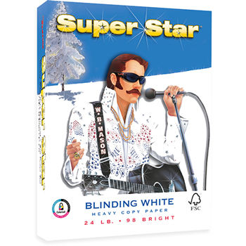 """Super Star™ Heavy Copy Paper, 8 1/2"""" x 11"""", 24 lb., 98 Bright, 500/RM"""