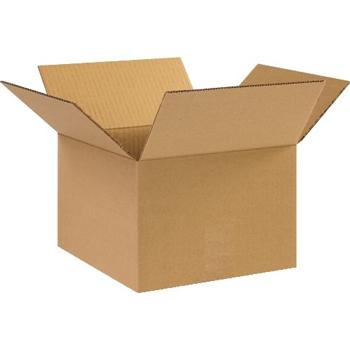 """W.B. Mason Co. Corrugated boxes, 10"""" x 10"""" x 7"""", Kraft, 25/BD"""