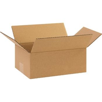 """Corrugated boxes, 10"""" x 7"""" x 4"""", Kraft, 25/BD"""