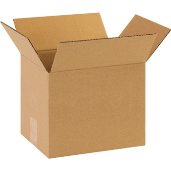 "Corrugated boxes, 10"" x 8"" x 8"", Kraft, 25/BD"