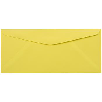 "JAM Paper #9 Business Colored Envelopes, 3 7/8"" x 8 7/8"", Ultra Lemon, 500/BX"