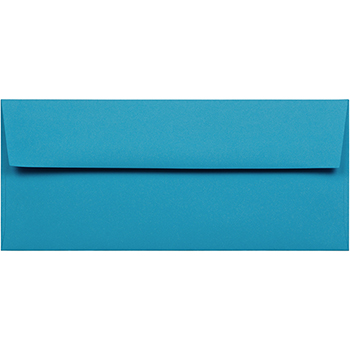 "JAM Paper® #10 Business Colored Envelopes, 4 1/8"" x 9 1/2"", Blue Recycled, 500/CT"