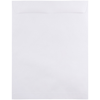 "Open End Catalog Commercial Envelopes, 12"" x 15 1/2"", White, 50/BX"