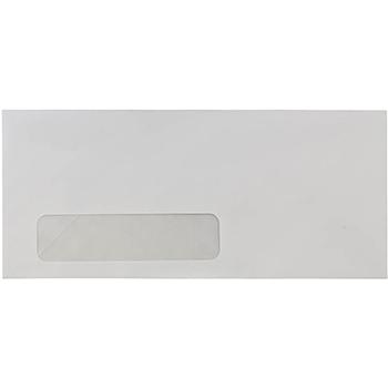 """JAM Paper #10 Business Commercial Window Envelopes, 4 1/8"""" x 9 1/2"""", White, 25/PK"""