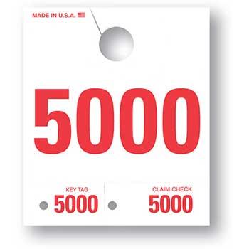 Auto Supplies 4 Digit Dispatch Number, 4DN-5, Series 5000-5999, White, 1000/BX