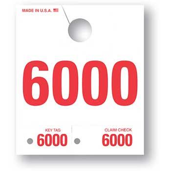 W.B. Mason Auto Supplies 4 Digit Dispatch Number, 4DN-6, Series 6000-6999, White, 1000/BX